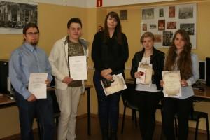 """Laureaci i wyróżnieni w II edycji międzyszkolnego konkursu """"Miniatura poetycka"""""""
